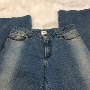 Cache light wash  bootcut jeans size 10
